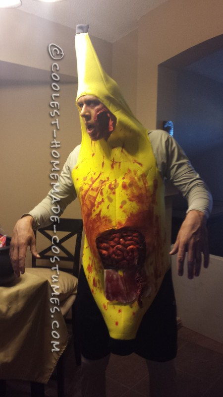 Funny and Different Zombie Banana Man Costume