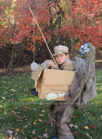 Zombie Freeride Illusion Costume for a Boy
