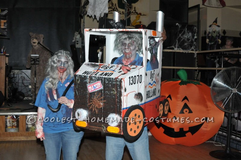 Creepy DIY Zombie Truckers Couple Costume