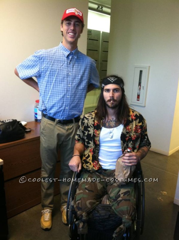 Lt. Dan and Forrest Gump Take Halloween by Storm