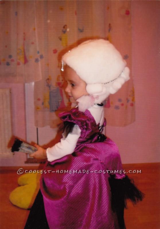 Adorable Homemade Marie Antoinette Costume for a Girl - 1