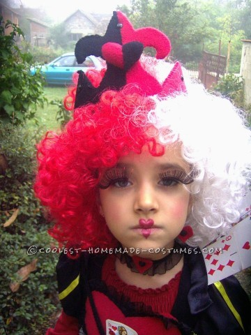 Queen of Hearts DIY Costume for a Girl