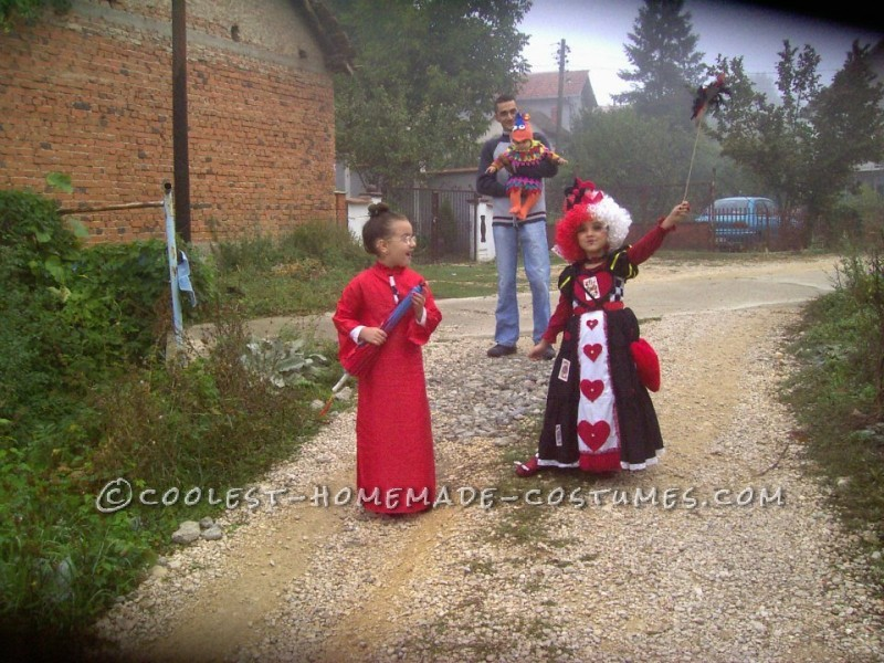 Queen of Hearts DIY Costume for a Girl - 2