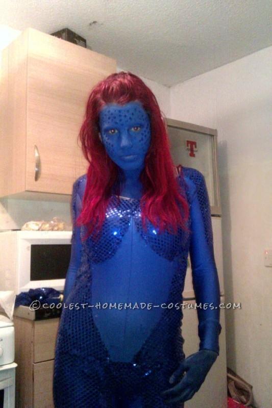 Sexy Homemade Mystique Costume