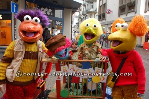 Fraggle Rock Papier Mache Masks
