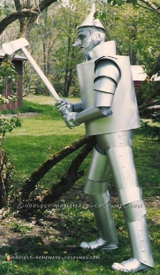 Newly finished Tin Man costume - profile