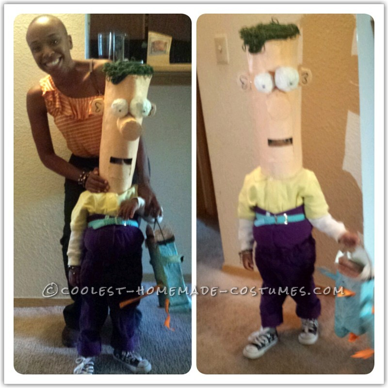 me dressed as Phineas and Duke dressed as Ferb