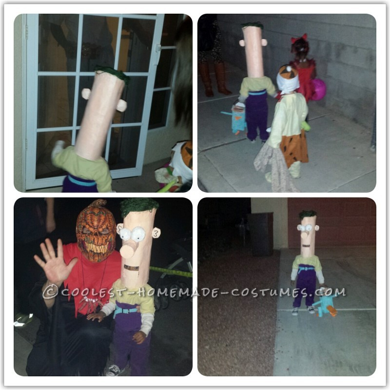 Super Easy Homemade Ferb Costume