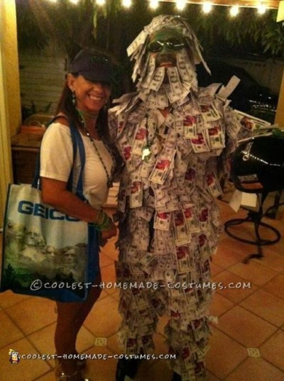Geico Money Man and His Agent Couple Costume