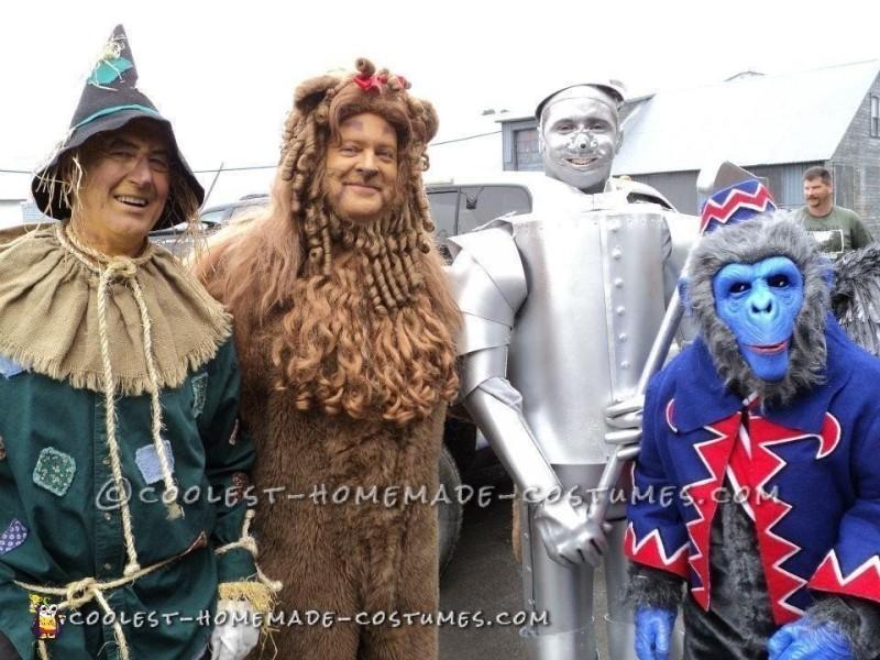 Scarecrow, Lion, Tin Man, and Monkey.
