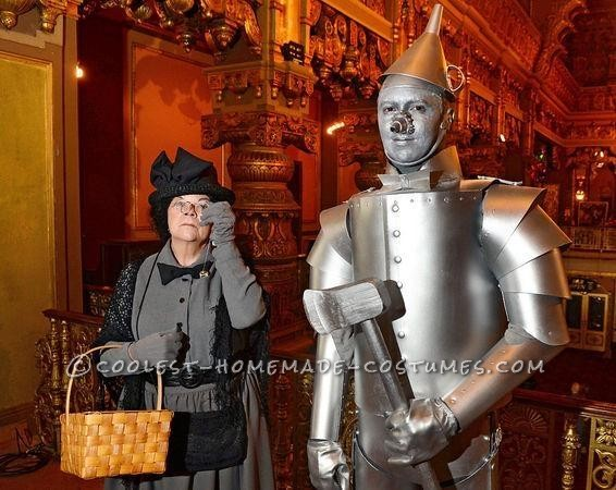 Miss Gulch and the Tin Man.