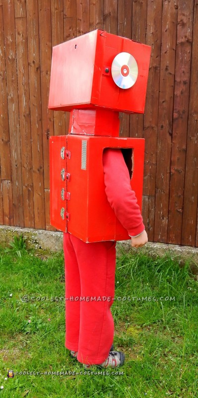 Cool Red Robot Costume