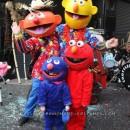 Sesame Street Costumes with Papier Mache Masks
