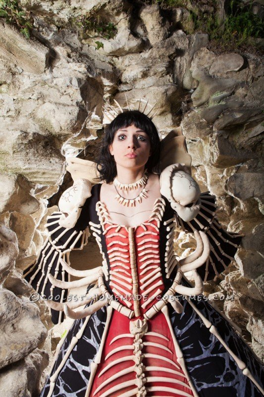 Out-of-your-Mind, Scary, Gravity-Challenging Bone Dress - 2
