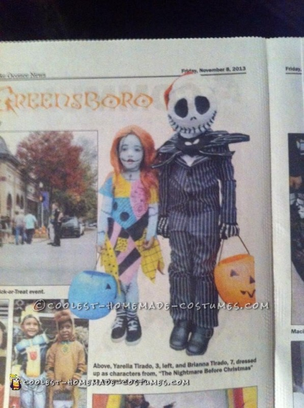 Jack and Sally Kids Costume