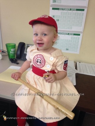 My Little Rockford Peach – League of Their Own Toddler Costume