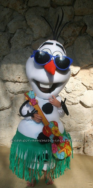 Coolest Frozen Snowmen Olaf and Marshmallow Couple Costumes - 1