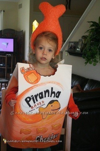Easy Last-Minute Goldfish Crackers Costume