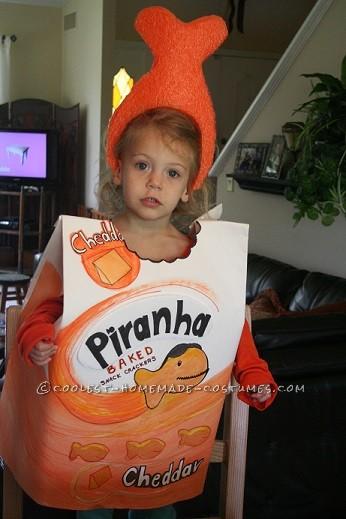 Easy Last-Minute Goldfish Crackers Costume