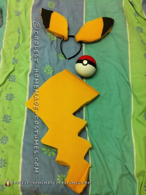 Pokemon Picachu and Ash Couple Costume