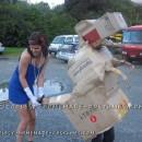Easy Last Minute Carton Box Dinosaur Costume