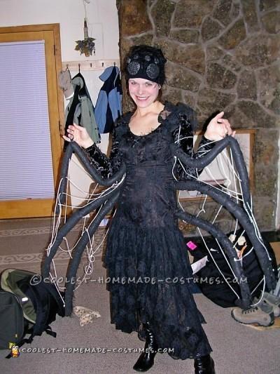 Elegant Homemade Black Widow Spider Costume
