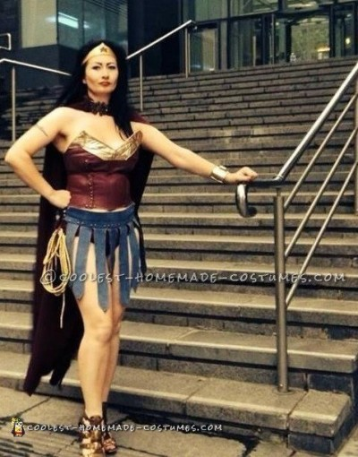 Sexy DIY Wonder Woman Costume in Amazonian Warrior Style