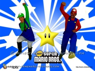 Super Fun DIY Mario Brothers Costume for Couples