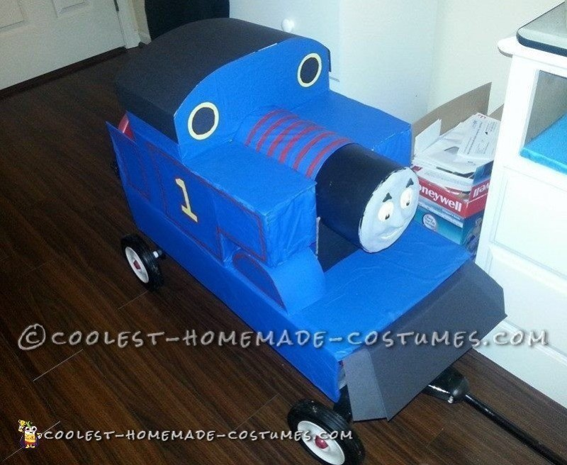 Coolest Homemade Thomas the Train Costume - 1