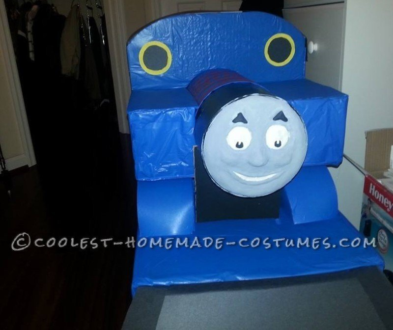 Coolest Homemade Thomas the Train Costume - 2