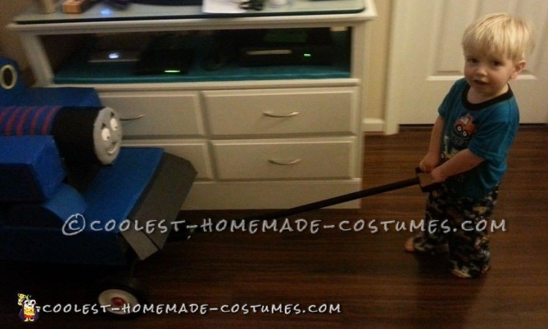 Coolest Homemade Thomas the Train Costume - 3