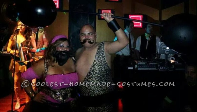 Vintage Homemade Circus Freaks Couple Costume