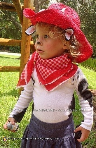 Cutest Cow Child Cowgirl Costume - 2