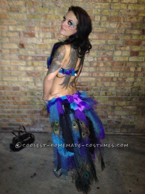 Sexy Adult Peacock Costume Made in 2 Days!