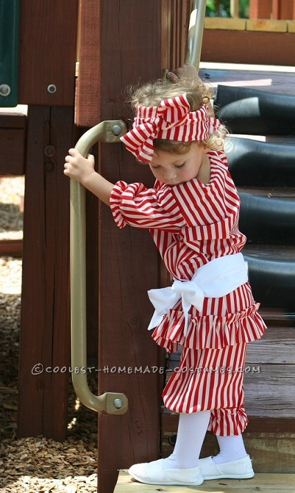 Beautiful Girl's Victorian Beach Bather Costume