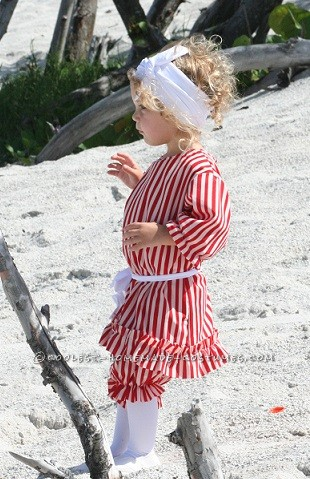 Beautiful Girl's Victorian Beach Bather Costume