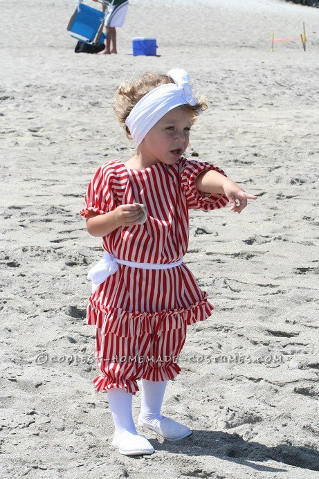 Beautiful Girl's Victorian Beach Bather Costume - 3