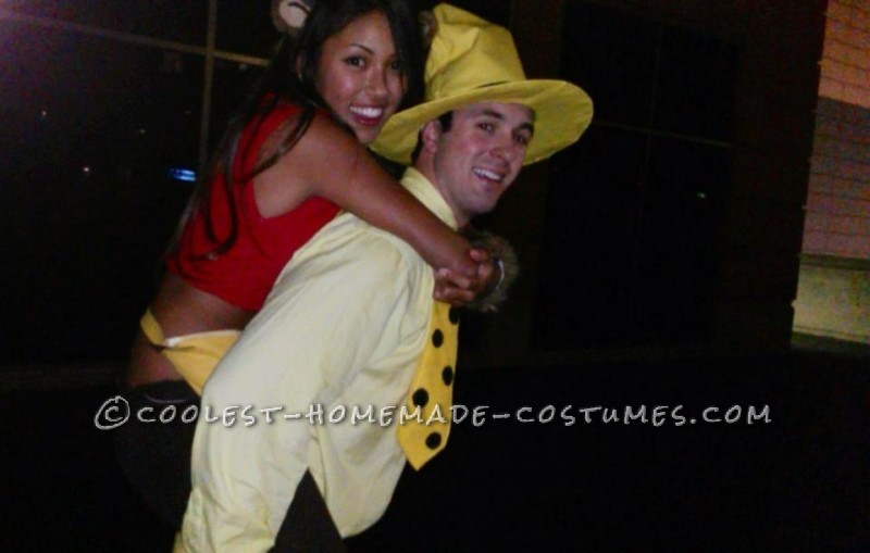 Curious George and The Man In The Yellow Hat Couple Costume - 1