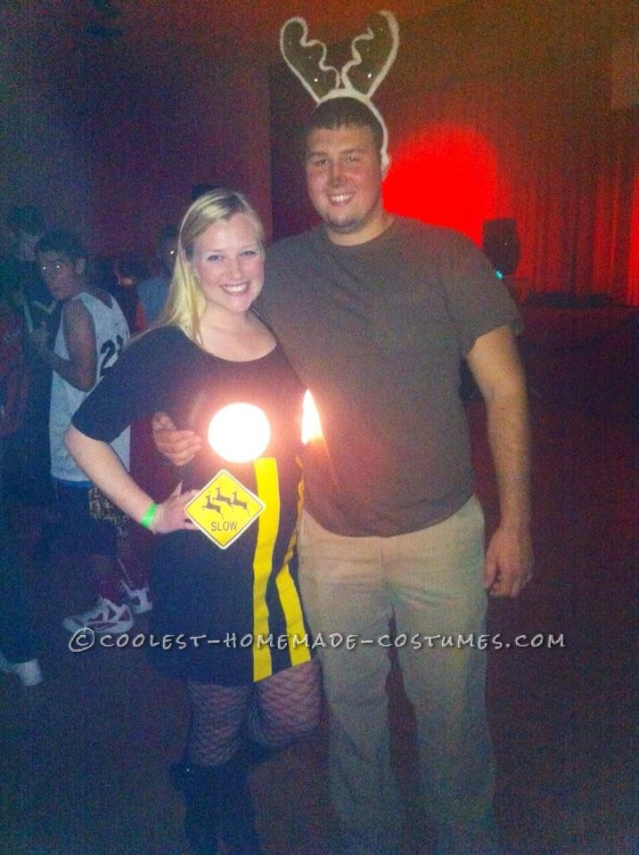 Deer in Headlights Couple Costume with Real Lights!