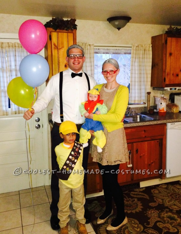 Coolest Homemade Disney Up Family Costume