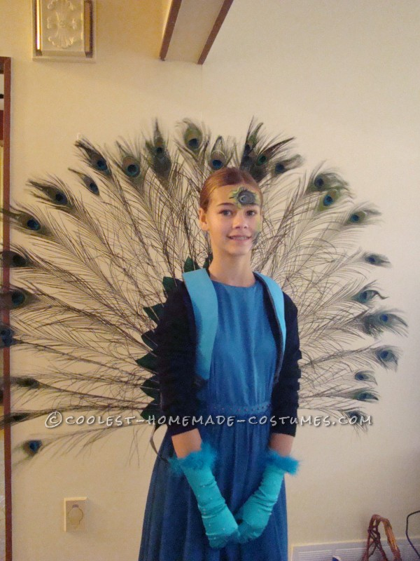 Coolest Girls' Peacock Costume and Face Paint - 1