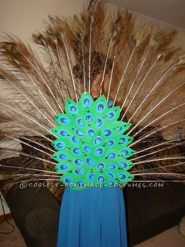 Coolest Girls' Peacock Costume and Face Paint - 3