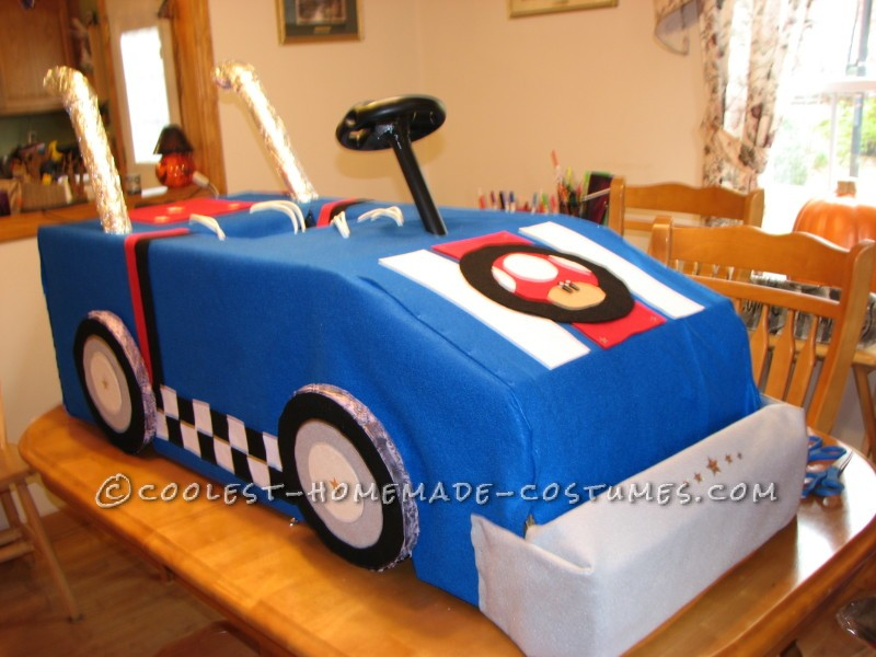 Cool Mario Bros. Toad Racing Kart Costume - 1