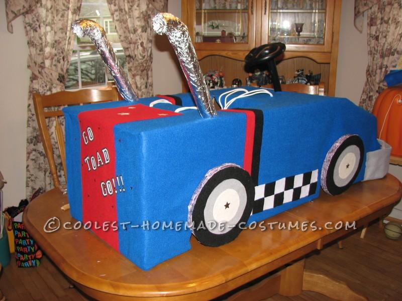 Cool Mario Bros. Toad Racing Kart Costume - 3