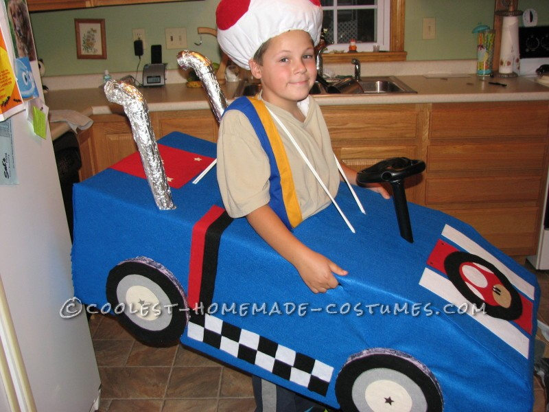 Cool Mario Bros. Toad Racing Kart Costume - 5