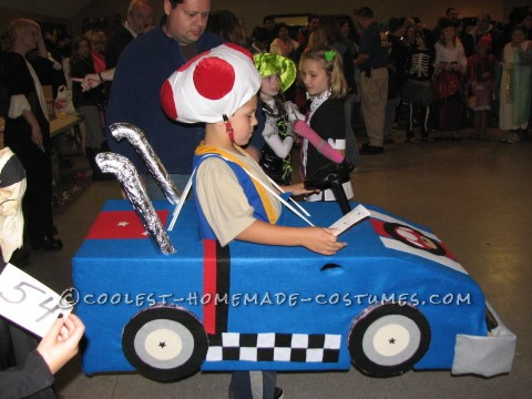 Cool Mario Bros. Toad Racing Kart Costume