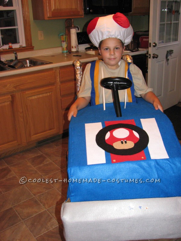 Cool Mario Bros. Toad Racing Kart Costume - 2