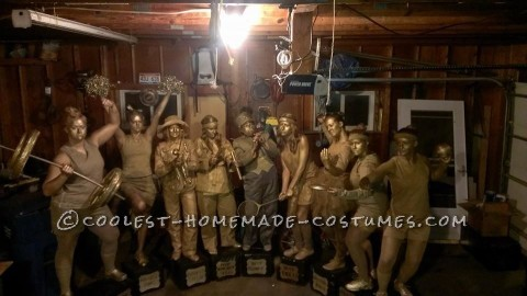 Amazing Golden Trophies Group Costume