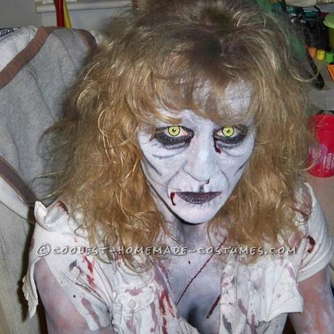 Creepy Homemade Knocked-Up Zombie Costume