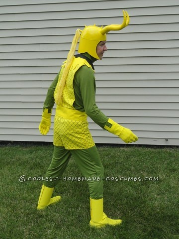 Cool Homemade Loki Costume from Marvel Comics